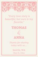 Wedding Large Wine Label - Love Story Wedding