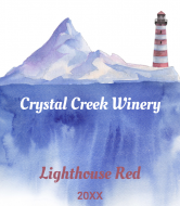 Wine Label - Watercolor Lighthouse