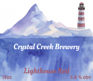 Beer Label - Watercolor Lighthouse