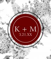 Wedding Champagne Label - Wedding Floral