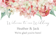 Wedding Mini Wine Label - Hydrangea
