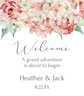 Wedding Champagne Label - Hydrangea