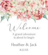 Wedding Wine Label - Hydrangea