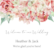 Wedding Sticker - Hydrangea