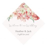 Wedding Wine Hang Tag - Hydrangea