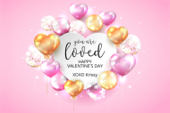 Holiday Sticker - Valentine Balloons