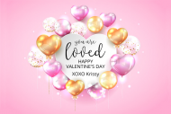 Holiday Mini Champagne Label - Valentine Balloons