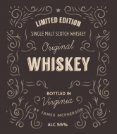 Expressions Liquor Label - Classic Whiskey