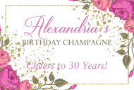 Birthday Mini Champagne Label - Garden Party