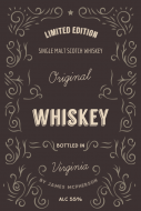 Expressions Large Wine Label - Classic Whiskey