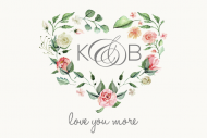 Wedding Mini Wine Label - Love You More Heart