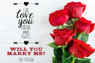 Expressions Growler Label - Marry Me Roses