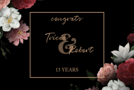 Anniversary Mini Wine Label - Elegant Peonies