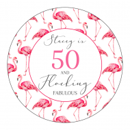 Birthday Sticker - Flocking Fabulous