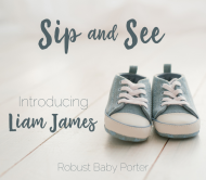 Baby Beer Can Label - Sip and See Denim Shoes