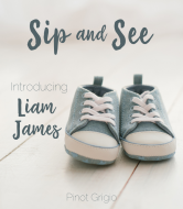 Baby Wine Label - Sip and See Denim Shoes
