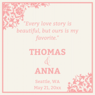 Wedding Sticker - Love Story Wedding