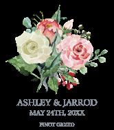 Wedding Wine Label - Wedding Rose Bouquet