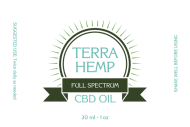 Dropper Bottle Label - Full Spectrum CBD