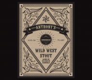 Beer Can Label - Wild West