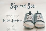 Baby Mini Wine Label - Sip and See Denim Shoes