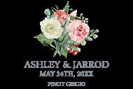 Wedding Mini Wine Label - Wedding Rose Bouquet