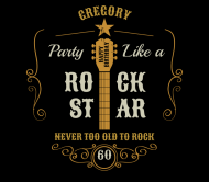 Birthday Beer Label - Party Like a Rock Star