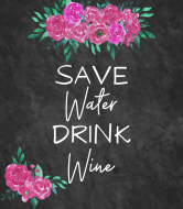 Expressions Wine Label - Save Water Drink Wine