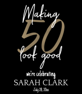 Birthday Wine Label - Making 50 Look Good