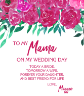 Wedding Wine Label - To My Mama