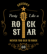 Birthday Wine Label - Party Like a Rock Star
