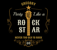 Birthday Beer Can Label - Party Like a Rock Star
