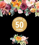 Anniversary Wine Label - Autumn Floral Anniversary