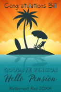 Mini Wine Label - Goodbye Tension Hello Pension