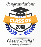 Graduations Wine Label - Modern Graduation