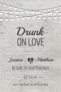 Wedding Large Wine Label - Drunk On Love