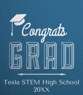 Graduations Champagne Label - Congrats Grad