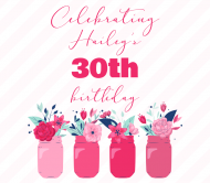 Birthday Beer Label - Floral Mason Jars