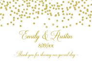 Wedding Mini Champagne Label - Gold Confetti