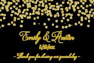 Wedding Mini Wine Label - Gold Confetti
