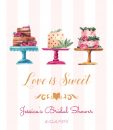 Wedding Champagne Label - Love is Sweet Cakes