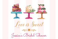 Wedding Mini Wine Label - Love is Sweet Cakes