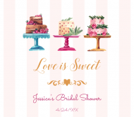Wedding Beer Label - Love is Sweet Cakes