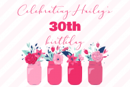 Birthday Mini Wine Label - Floral Mason Jars