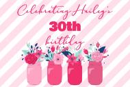 Birthday Mini Wine Label - Floral Mason Jars