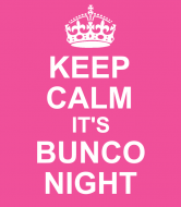 Expressions Wine Label - Keep Calm Bunco