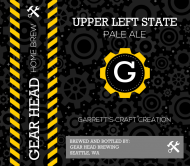 Expressions Beer Label - Gear Head