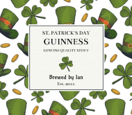 Holiday Beer Can Label - Luck of the Irish