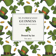 Holiday Growler Label - Luck of the Irish