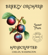 Wine Label - Handcrafted Plum